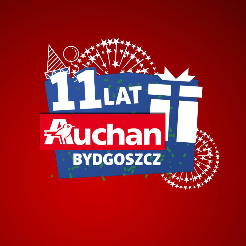 Auchan Polska - logotypy urodzinowe