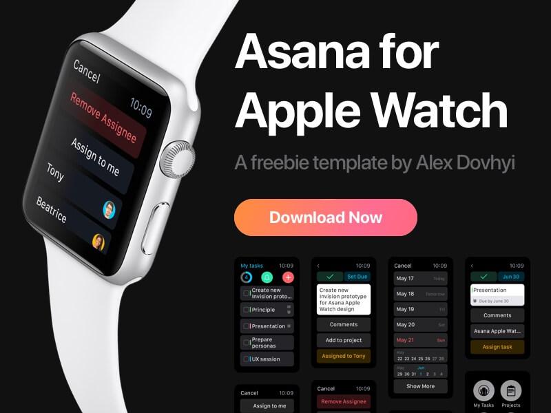 Asana苹果手表