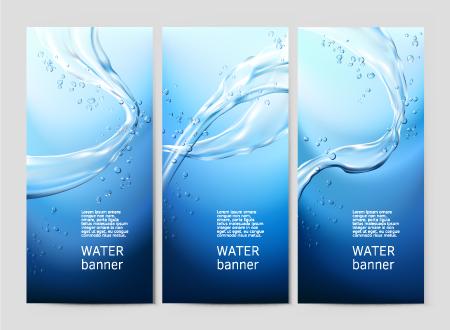 水背景卡片组合.eps