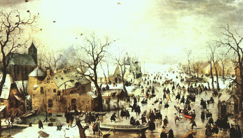 荷兰《A Scene on the Ice near a Town 1》亨利克·阿维坎普Hendrick Avercamp