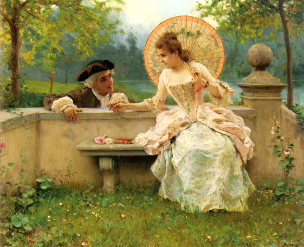 意大利《A Tender Moment in the Garden》Federico Andreotti