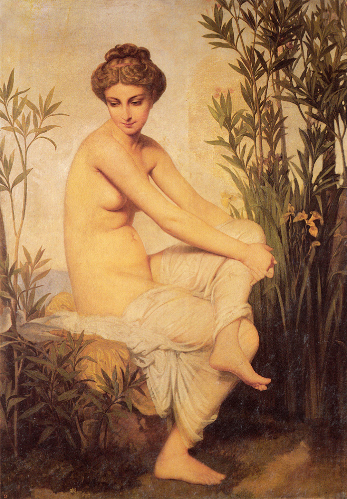 法国《Ancient Bather》欧仁·伊曼纽尔·阿莫里·杜瓦尔 Amaury-Duval Eugene-Emmanuel