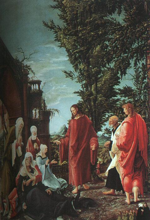 德国《Christ Taking Leave of His Mother》阿尔布雷希特·阿尔特多夫 Albrecht Altdorfer