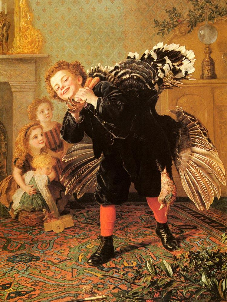 英国《Christmas Time (Here's The Gobbler!)》苏菲·冈恩布里·安德森 Sophie Gengembre Anderson
