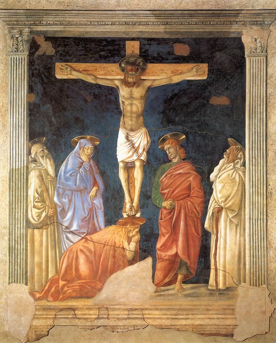 《Crucifixion and Saints》安德烈亚·德尔·卡斯坦诺Andrea del Castagno