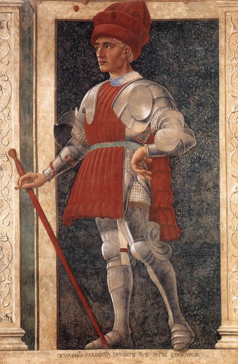 《Famous Persons - Farinata degli Uberti》安德烈亚·德尔·卡斯坦诺Andrea del Castagno