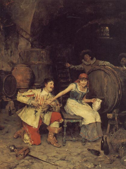 意大利《Flirtation in the Wine Cellar》Federico Andreotti
