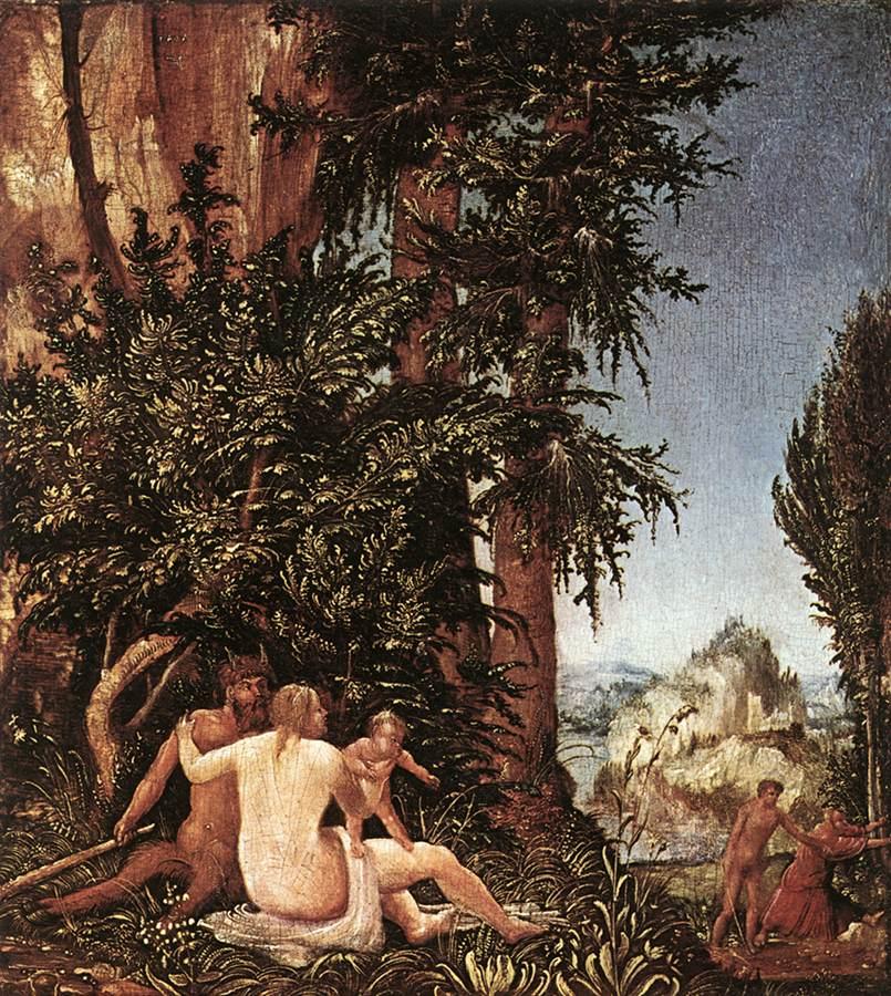 德国《Landscape with Satyr Family》阿尔布雷希特·阿尔特多夫 Albrecht Altdorfer