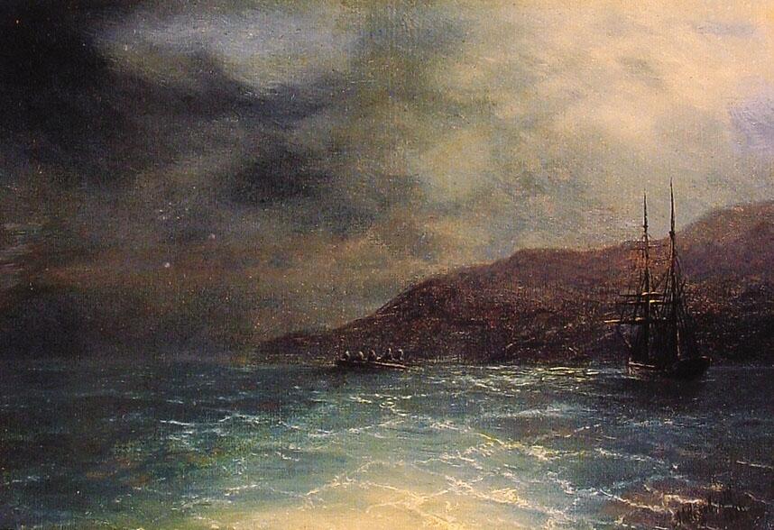 俄罗斯《Nocturnal Voyage》伊凡·康斯坦丁诺维奇·艾瓦佐夫斯基 Ivan Konstantinovich Aivazovsky