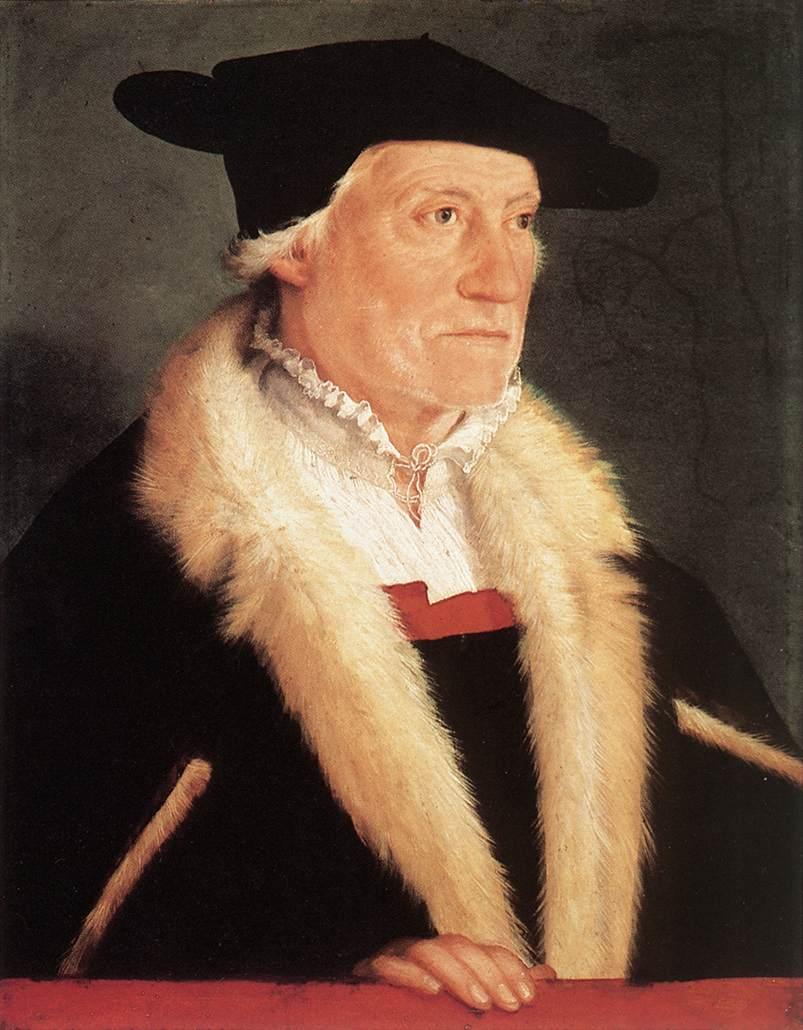 德国《Portrait of the Cosmographer Sebastien Münster》克里斯托弗•安贝格尔 Amberger Christoph