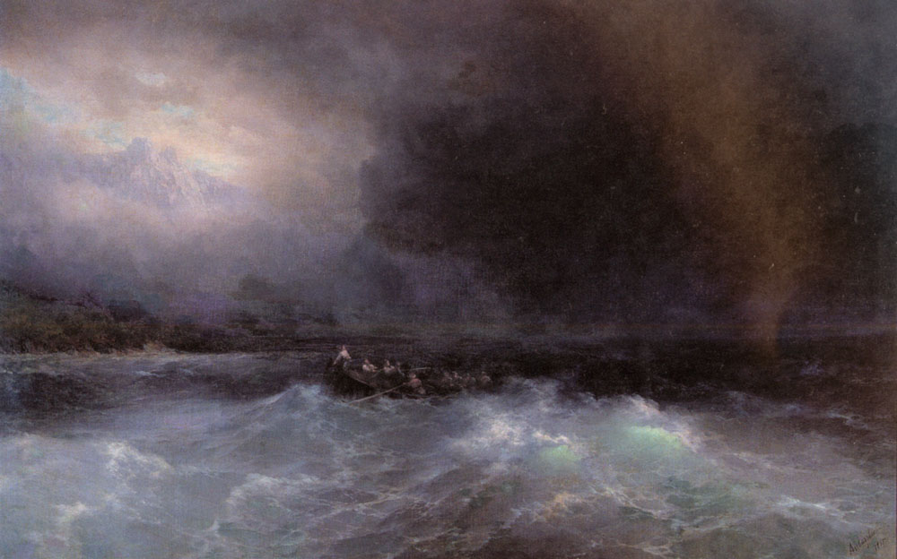 俄罗斯《Ship At Sea》伊凡·康斯坦丁诺维奇·艾瓦佐夫斯基 Ivan Konstantinovich Aivazovsky