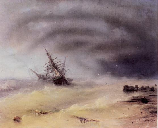 俄罗斯《Storm》伊凡·康斯坦丁诺维奇·艾瓦佐夫斯基 Ivan Konstantinovich Aivazovsky