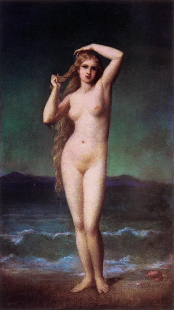法国《The Bather》欧仁·伊曼纽尔·阿莫里·杜瓦尔 Amaury-Duval Eugene-Emmanuel
