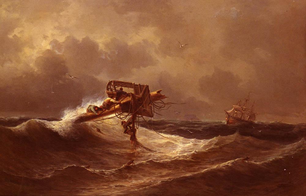 俄罗斯《The Rescue》伊凡·康斯坦丁诺维奇·艾瓦佐夫斯基 Ivan Konstantinovich Aivazovsky