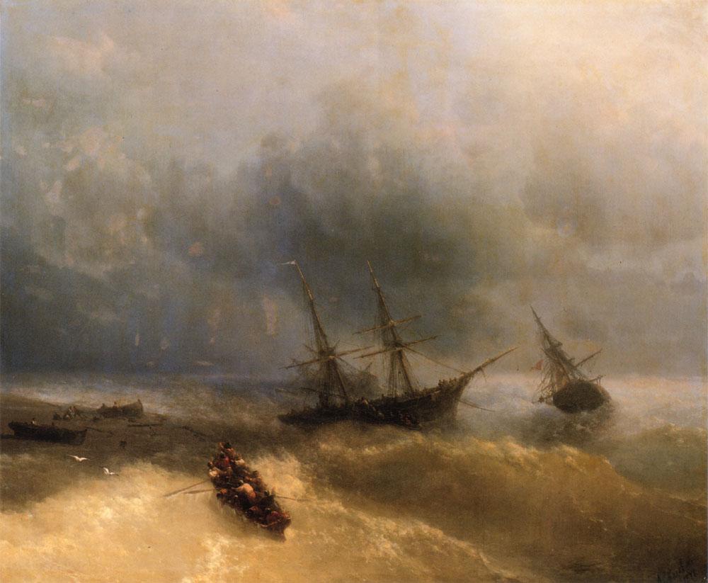 俄罗斯《The Shipwreck》伊凡·康斯坦丁诺维奇·艾瓦佐夫斯基 Ivan Konstantinovich Aivazovsky