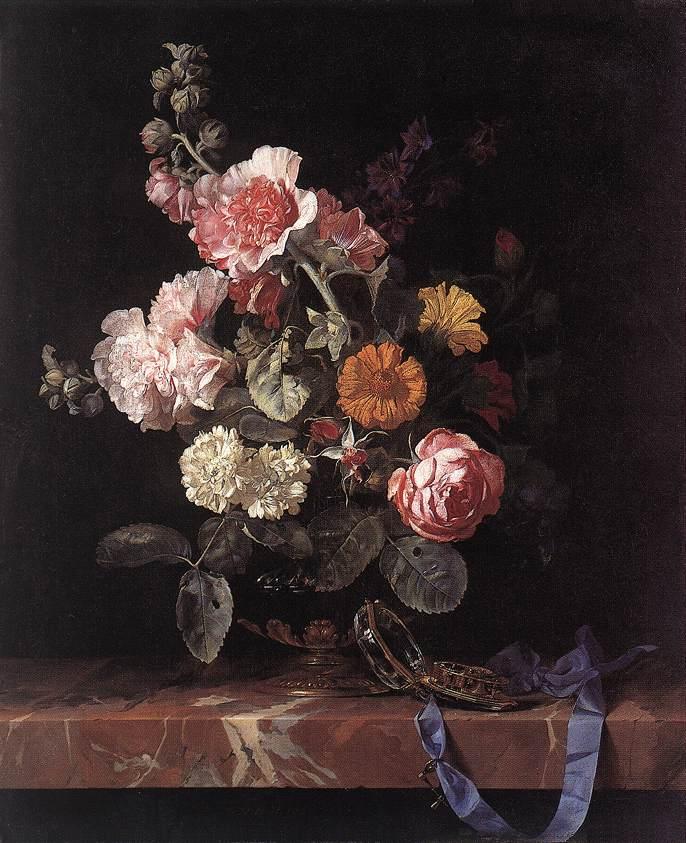 《Vase of Flowers with Watch》威廉凡·万·艾斯特Aelst Willem van