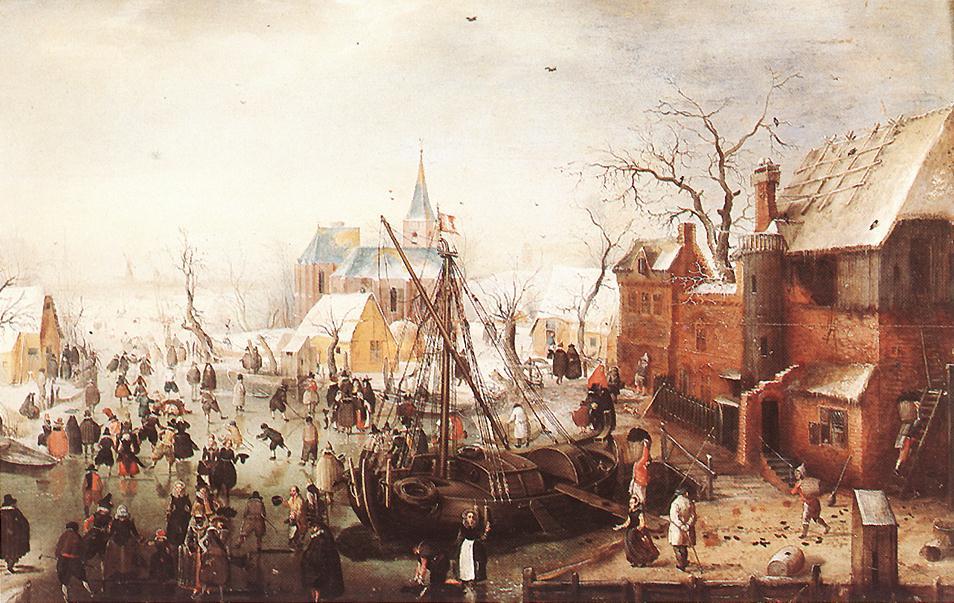 荷兰《Winter Scene at Yselmuiden》亨利克·阿维坎普Hendrick Avercamp