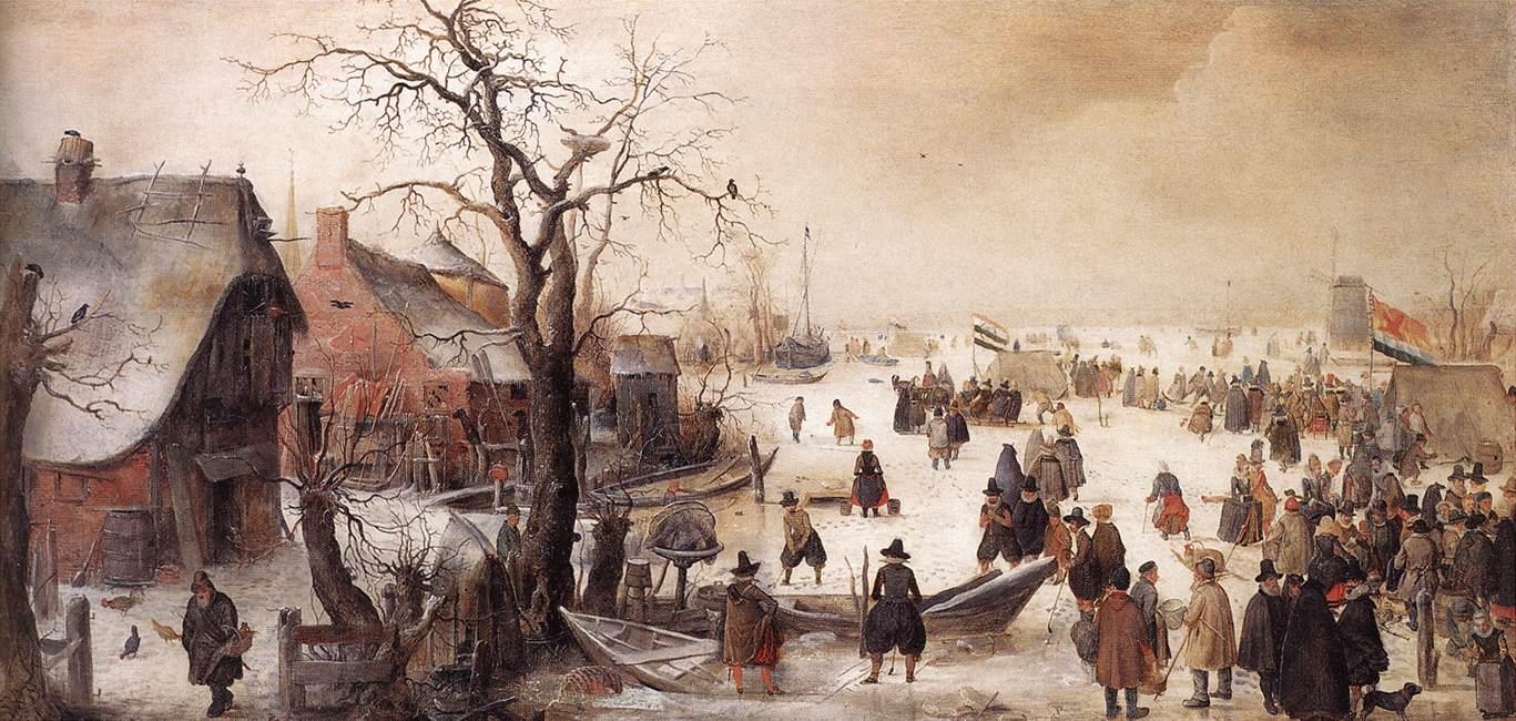 荷兰《Winter Scene on a Canal》亨利克·阿维坎普Hendrick Avercamp