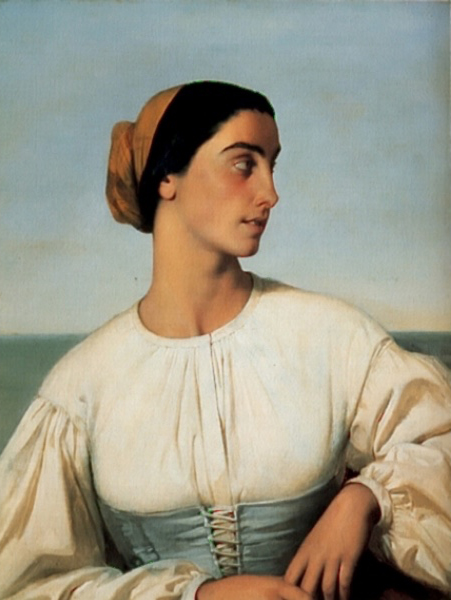 法国《Woman from St. Jean de Luz》欧仁·伊曼纽尔·阿莫里·杜瓦尔 Amaury-Duval Eugene-Emmanuel