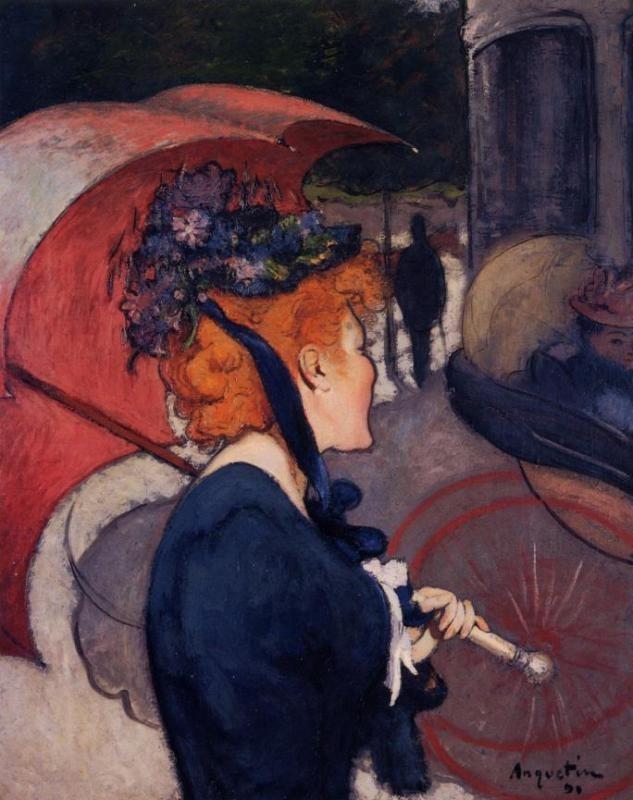法国《Woman with Umbrella》路易斯·安克坦Louis Anquetin