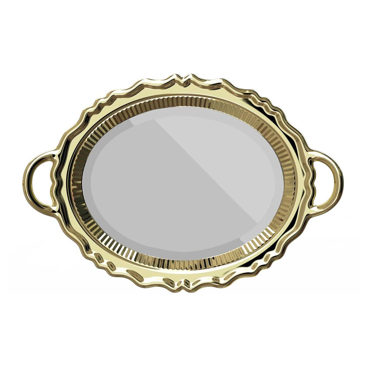qeeboo  Plateau Mirror Metal Finish 镜子