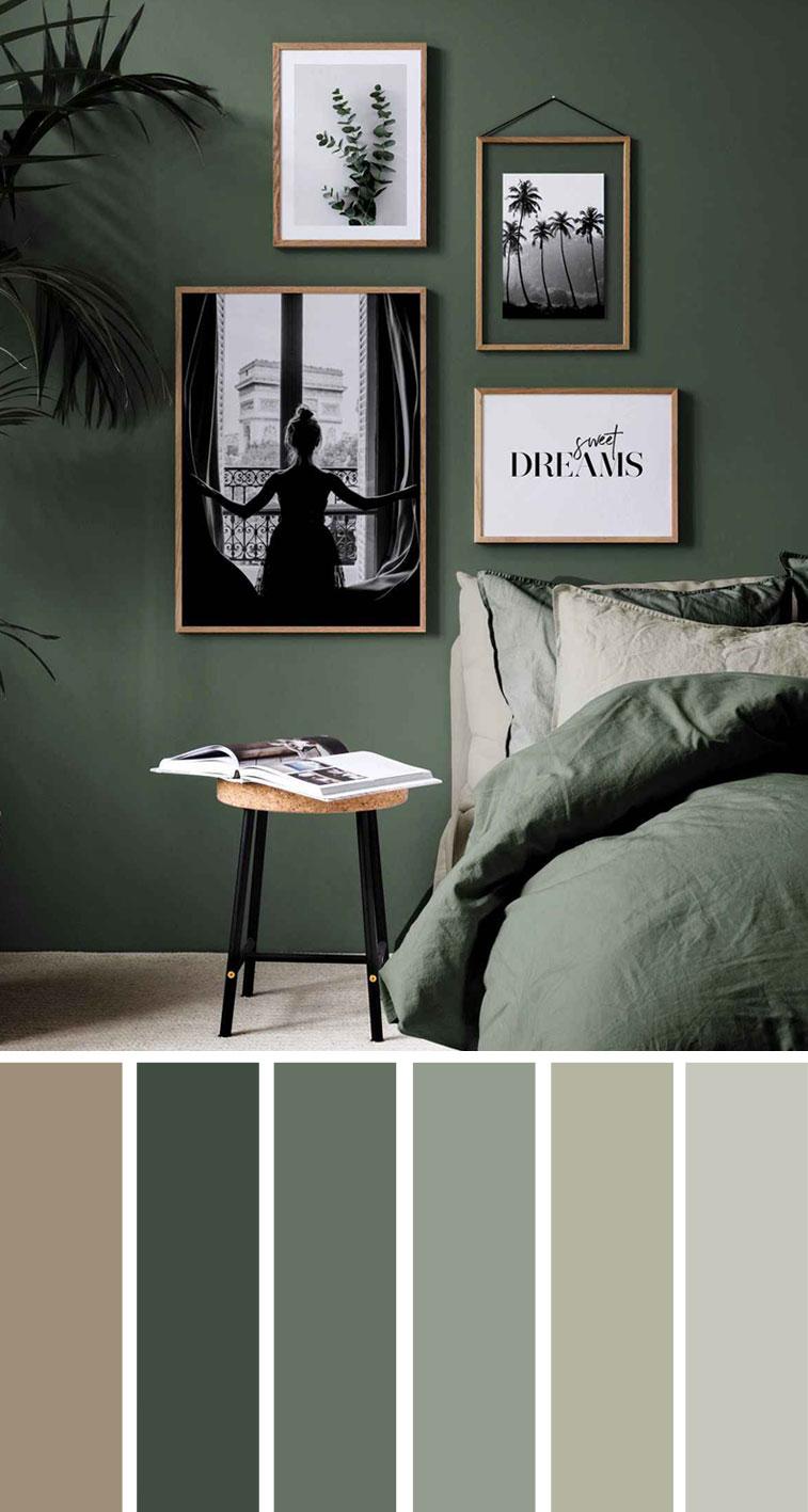 地球色卧室配色方案