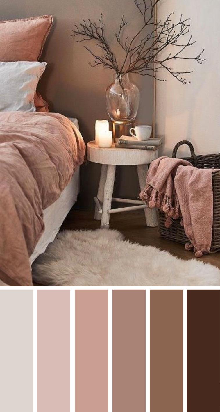 土色调卧室配色方案