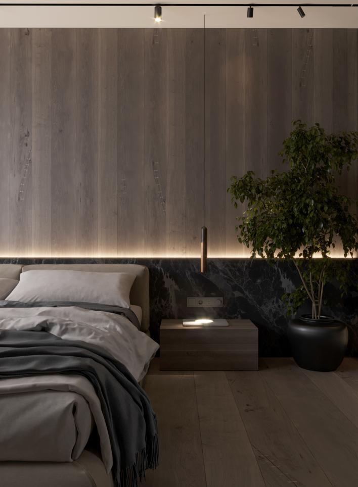 现代床头背景墙