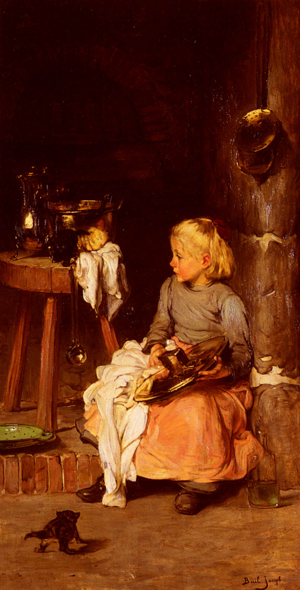 《The Little Girl with the Cauldron》约瑟夫·贝尔Joseph Bail