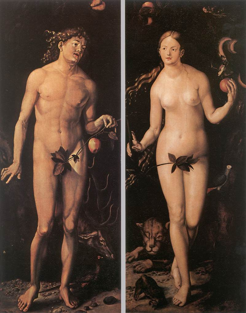《Adam and Eve》Hans Baldung Grien 汉斯·布格迈尔