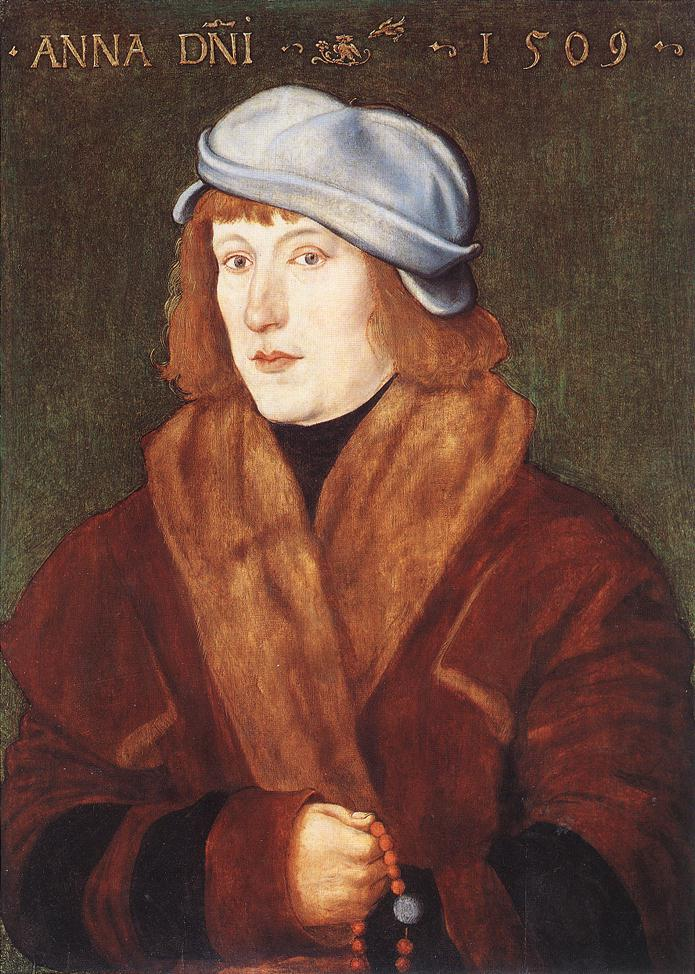 《Portrait of a Young Man with a Rosary》Hans Baldung Grien 汉斯·布格迈尔