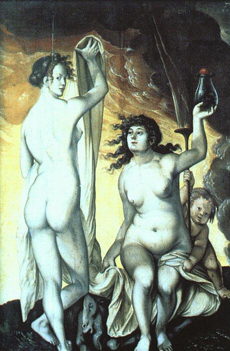 《Sacred and Profane Love》Hans Baldung Grien 汉斯·布格迈尔
