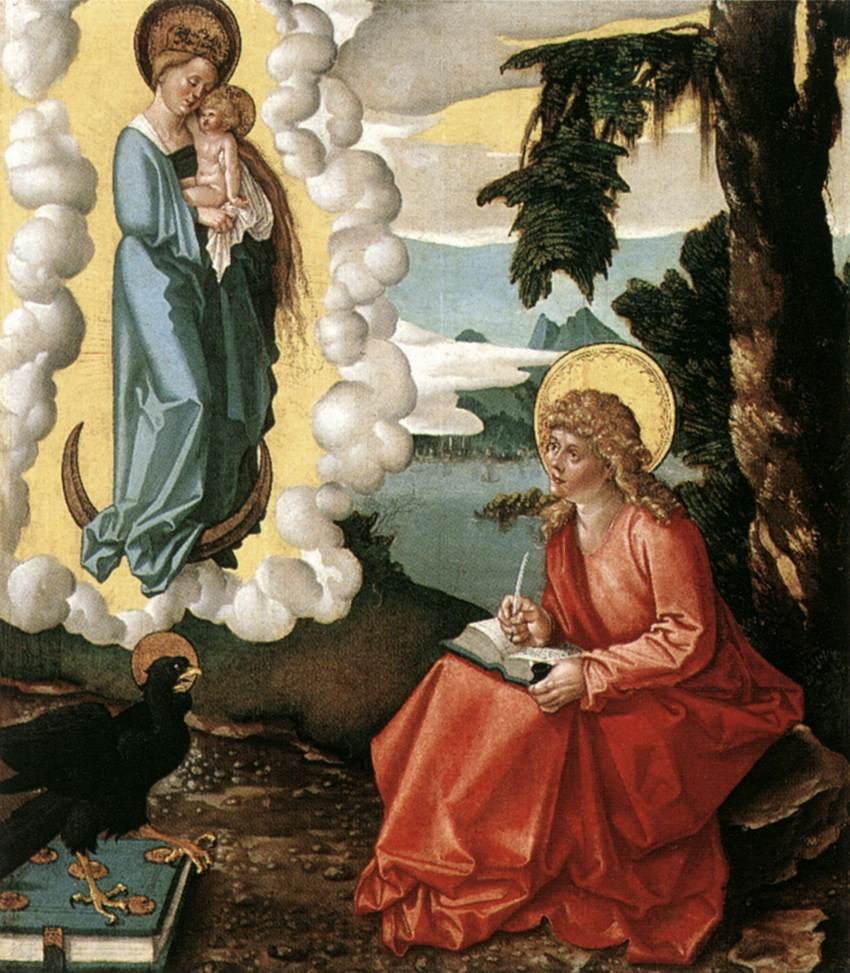《St John at Patmos》Hans Baldung Grien 汉斯·布格迈尔