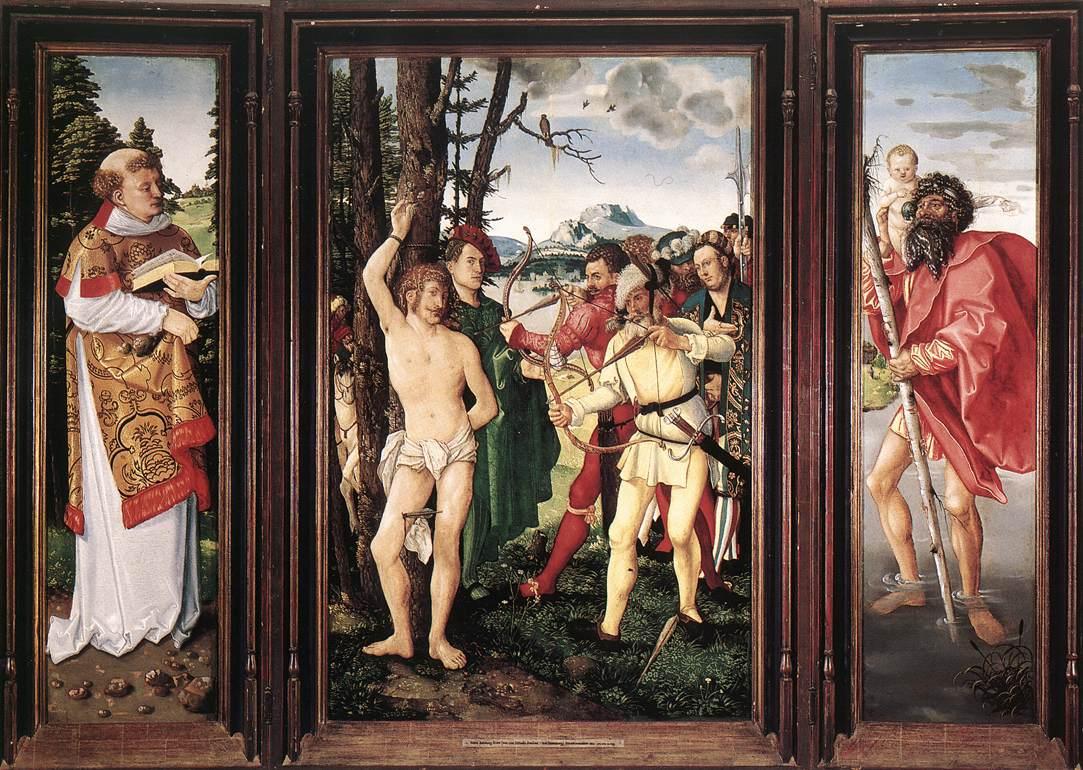《St Sebastian Altarpiece》Hans Baldung Grien 汉斯·布格迈尔