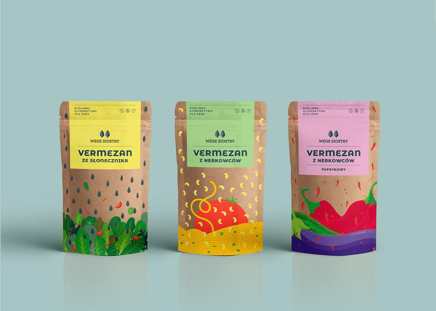 素食品牌Vege Sisters包装设计