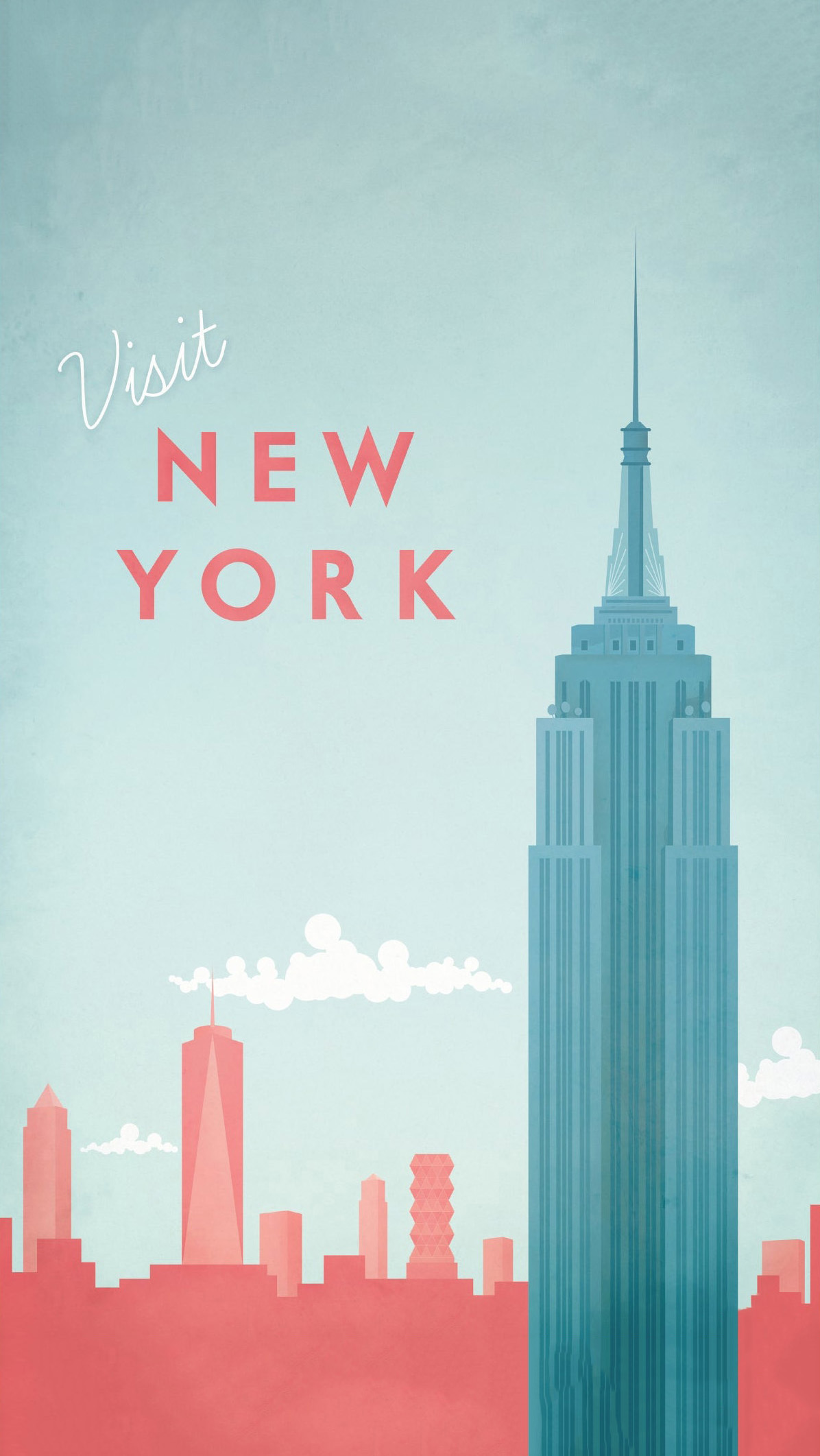 Visit New York - 法国插画师 Henry Rivers 城市系列作品:纽约