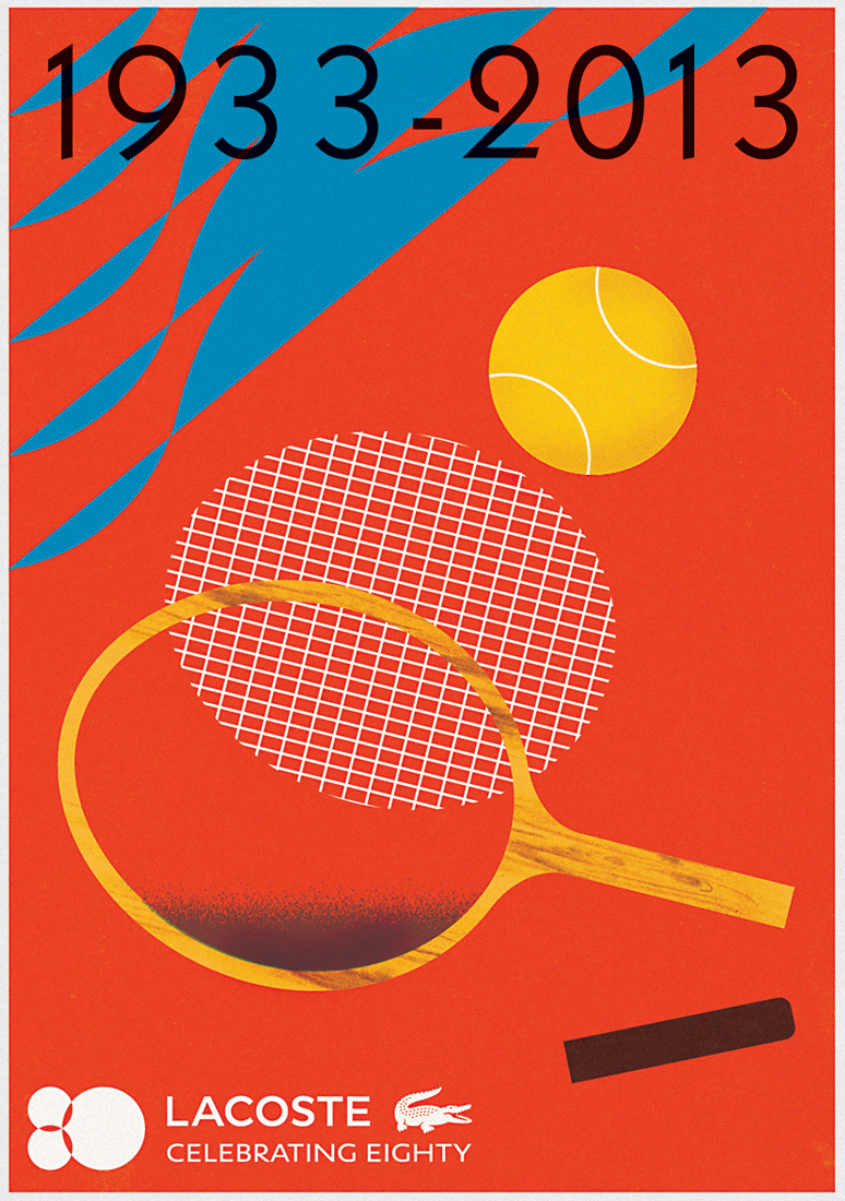 Lacoste 1933-2013 Poster