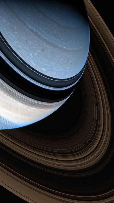 Saturn - NASA 卡西尼号探测器拍摄的土星伪彩色图像