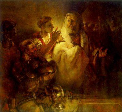 《Peter Denouncing Christ》伦勃朗·哈尔曼松·凡·莱因