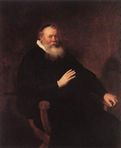 《Portrait of Eleazer Swalmius》伦勃朗·哈尔曼松·凡·莱因
