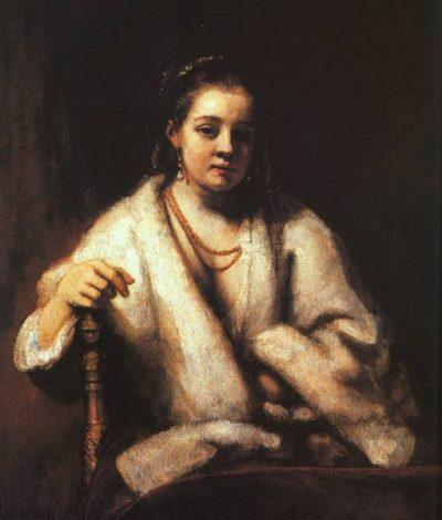 《Portrait of Hendrickje Stofells》伦勃朗·哈尔曼松·凡·莱因