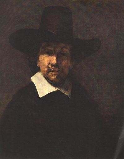 《Portrait of Jeremiah Becker》伦勃朗·哈尔曼松·凡·莱因