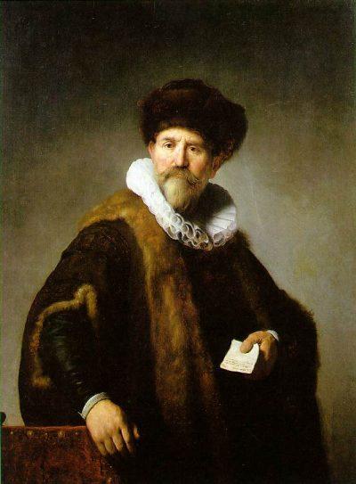 《Portrait of Nicolaes Ruts》伦勃朗·哈尔曼松·凡·莱因