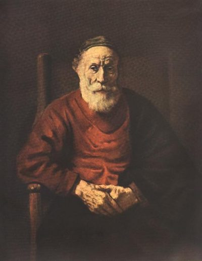 《Portrait of an Old Man in Red》伦勃朗·哈尔曼松·凡·莱因