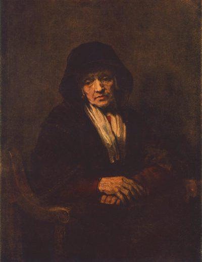 《Portrait of an Old Woman》伦勃朗·哈尔曼松·凡·莱因