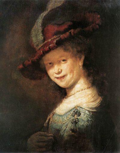 《Portrait of the Young Saskia》伦勃朗·哈尔曼松·凡·莱因