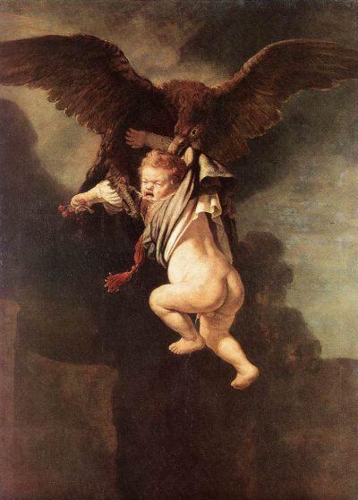 《Rape of Ganymede》伦勃朗·哈尔曼松·凡·莱因