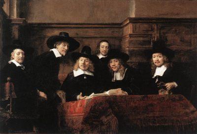 《Sampling Officials of the Drapers' Guild》伦勃朗·哈尔曼松·凡·莱因